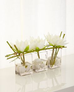 Water Lilies Faux-Floral Arrangement by John-Richard Collection at Neiman Marcus.