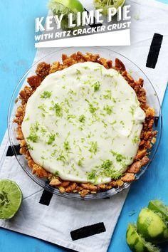 No Bake Key Lime Pie with Ritz Cracker Crust