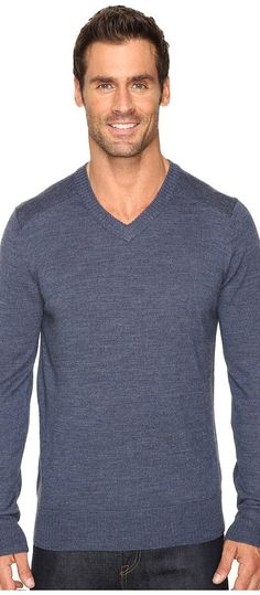 Smartwool Kiva Ridge V-Neck Sweater (Dark Blue Steel Heather) Men's Long Sleeve Pullover - Smartwool, Kiva Ridge V-Neck Sweater, SW0SR627352-352, Apparel Top Long Sleeve Pullover, Long Sleeve Pullover, Top, Apparel, Clothes Clothing, Gift, - Fashion Ideas To Inspire