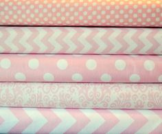 Baby Pink Bundle of Modern Fabric from by SouthernStitchFabric