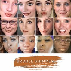 Bronze Shimmer- Warm Tone, Frost Finish