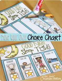 These chore charts are perfect to use with your kids! They are great to help teach your kids daily routines you want them to do. It's very easy to make your own chore chart. Daily Routine Chart For Kids, Charts For Kids, Daily Routines, School Routines, Toddler Learning Activities, Teaching Kids, Health Activities, Create A Chart, Make Your Own