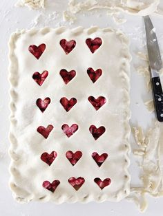 This strawberry slab pie is SO GOOD!!! And perfect for Valentine's Day!