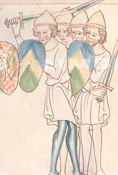 Buchmalerei aus Prag, die sehr genau mit dem Jahr 1329 datierbar ist (XXIII C 124 Velislai biblia picta)
