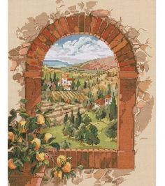 Janlynn Counted Cross Stitch Kit TuscanyJanlynn Counted Cross Stitch Kit Tuscany,