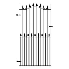 Surrey Wrought Iron Side Gate Deep Premium framed - Handcrafted in the UK by skilled craftsmen using the finest materials to provide ultimate