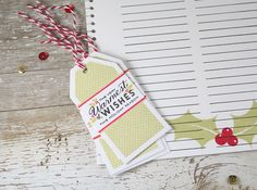 Warmest Wishes Gift Tags by Laurie Willison for Papertrey Ink (November 2015)