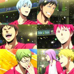 Kuroko no basket last game Kise Ryouta, Kagami Taiga, Kuroko Tetsuya, Akashi Seijuro, Kuroko No Basket, Anime Nerd, Manga Anime, Anime Chibi, Anime Boys
