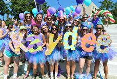 bid day at the University of Arkansas, Kappa Delta Zeta Gamma Chapter this was my bid day!