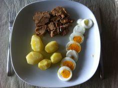 Atum Picante com ovo e batata