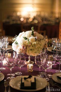 Tablescape | A Beautiful Winter Wedding in Washington | Wedluxe