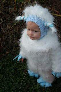 Baby Yeti costume...this is what I need for the kid! Lol