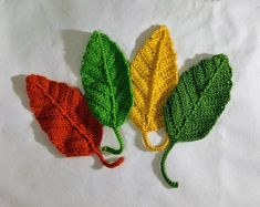 Crochet Applique Flowers and Leaves Set Any Colour - Made to Order Crochet Dragon Pattern, Crochet Leaf Patterns, Crochet Leaves, Thread Crochet, Crochet Flowers, Crochet Hooks, Crochet Pumpkin, Crochet Fall, Crochet Flower Tutorial