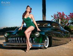 pin up girl - Morbid Rodz Rat Rod Girls, Car Girls, Pin Up Girls, Pin Up Car, Rockabilly Cars, Rockabilly Style, Lead Sled, Kustom Kulture, Beautiful Women Pictures