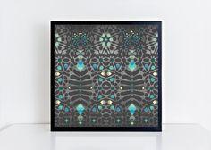 """Art Print-""""Pattern Dreams"""". Square Matte Photo Print.Fine Art Print. Art Nouveau. Pattern."""