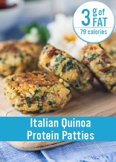 With only three grams of fat per patty, these Italian Quinoa Protein Patties are the perfect addition to your pasta or rice meal! Best of all, they are easy to make and are great for busy weeknight dinners. alli® weight loss aid can help you achieve a healthier you.  Nutrition facts are estimates only