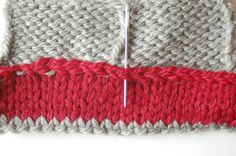 How to do a folded seam on a top-down sweater #knitting