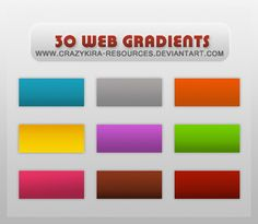 Gradients style by crazykira-resources on DeviantArt Color Theory, Bar Chart, Photoshop, Deviantart, Tips, Design, Style, Swag, Advice