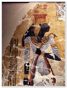 Representation of the deified queen Ahmose-Nefertari  New Kingdom, 20th dynasty, 1152-1145 BC.  From Thebes, tomb Inherkau's tomb TT 359 at Deir el-Medina  Paint on plaster