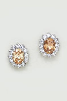 CZ Leanna Earrings in Champagne on Emma Stine Limited