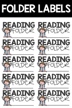 Folder and Notebook Labels for Students!