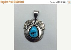 Sterling Silver and Turquoise Handcrafted Vintage by Pastfinds