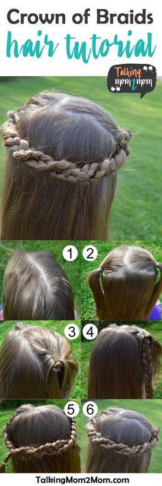 Crown of Braids Hair Tutorial- what a pretty way to do a little girl's hair!