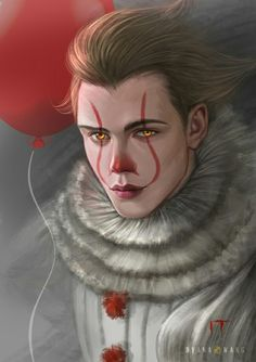 This art print will available at Indonesia Comic Con and sell worldwide (without watermark) finished versi. Pennywise the dancing clown Penny Wise Clown, Le Clown, Clown Faces, Arte Horror, Horror Art, Horror Movie Characters, Horror Movies, Bill Skarsgard Pennywise, Pennywise The Dancing Clown
