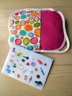Een onderweg-zoekzak : Pien met de naaimachien: kerstcadeau voor collega's met kinderen