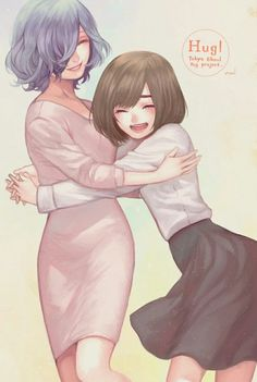 "coollanna: "" Touka & Hinami "" Art by みーる Authorized Reprint ✔ Do not remove…"