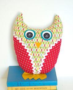 Plush Owl Doll Handmade Stuffed Animal Pillow Children Baby Modern. $26.00, via Etsy.