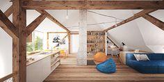 #loft #apartment #interior Loft, Architecture, Bed, Apartment Interior, Furniture, Attic, Design, Home Decor, Projects