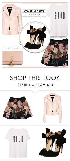 """""""Try A Print"""" by irena123 ❤ liked on Polyvore featuring Ted Baker, Balenciaga, MANGO, Yves Saint Laurent, women's clothing, women, female, woman, misses and juniors"""