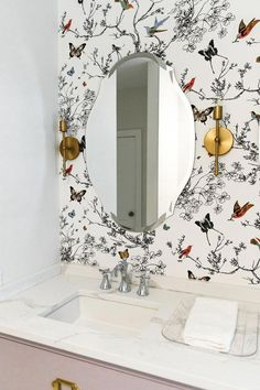 Amazing 49 Fancy Bathroom Mirror Ideas For Your Bathroom Girl Bathrooms, Boho Bathroom, Large Bathrooms, Budget Bathroom, Bathroom Renovations, Amazing Bathrooms, Bathroom Ideas, Bathroom Closet, Bathroom Mirrors