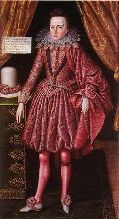"""Robert Peake's """"Prince Charles the Future Charles I"""" (1613); great lace collar and the rich reds. Interesting hat on the left...where did red dyes come from, did England import them? If so, from where?"""