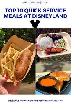Disney Tips, Disney Stuff, Disney Parks, Pizza Planet, Disneyland Food, Disney World Food, Slow Cooked Beef, Turkey Sandwiches, Chocolate Chunk Cookies