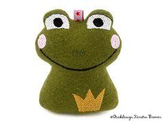 Frosch Alois mit Krone  • Stickdatei ITH • 10x10