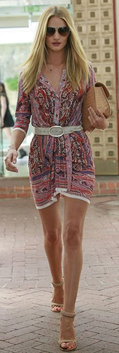 Rosie Hungtington-Whiteley in a polished boho look