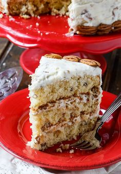 Italian Cream Cake - a Southern favorite with plenty of coconut and pecans.