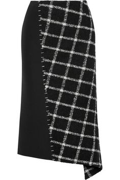 Balenciaga | Embellished paneled wool-blend skirt | NET-A-PORTER.COM