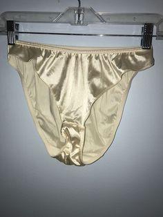a3a67ded97c1 90s Victorias Secret Second Skin White Satin Nylon High Cut Bikini Panties  Vtg L #VictoriasSecret