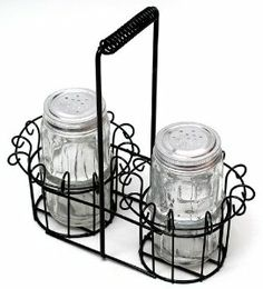 Clear Glass Salt & Pepper with Basket-01-16519 by IWGAC. $19.98. Returns for any reason other than damaged or defective will have a 20% restocking fee and return shipping fees will not be refunded. All return claims must be initiated within 15 business days of receipt of the order. Kitchens Salt & Pepper Sets. Save 26% Off!
