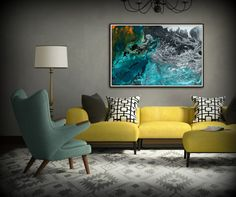 Large Abstract Painting Print Art Abstract Art by LDawningScott