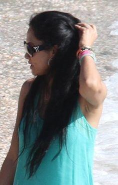 Kimora Lee Simmons beach waves hairstyle