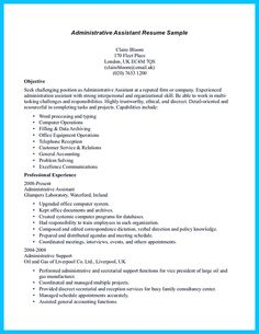 Administrative assistant resume, Administrative assistant and ...