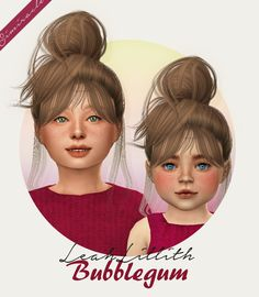 LeahLillith Bubblegum hair for kids and toddlers by Simiracle for The Sims 4 Sims 4 Game Mods, Sims Mods, Toddler Hair Sims 4, Toddler Hair Bows, The Sims 4 Bebes, The Sims 4 Cabelos, Pelo Sims, Sims 4 Cc Kids Clothing, Sims 4 Children
