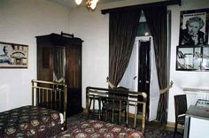 "Agatha Christie's room at the Pera Palace Hotel in Istanbul, where she wrote her novel ""Murder on the Orient Express""."