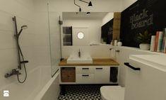 Mieszkanie w realizacji - Średnia łazienka w bloku bez okna, styl skandynawski - zdjęcie od Grafika i Projekt architektura wnętrz