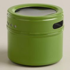 One of my favorite discoveries at WorldMarket.com: Green Magnetic Spice Storage Tin, Set of 12
