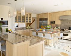 Kitchen Natural Maple Wood Cabinetry Design, Pictures, Remodel, Decor and Ideas - page 16
